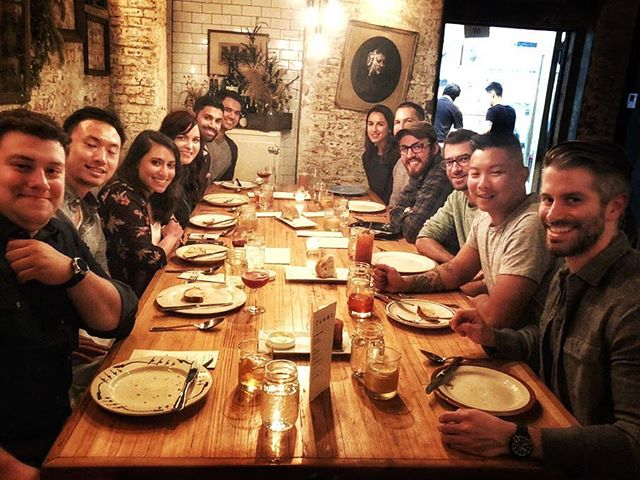 #TBT to our very #thankful team dinner. 🐖 #BeNotable #pigroast #notoriousPIG #startup #startuplife #family #teamphoto #dinner #feast #feastmode