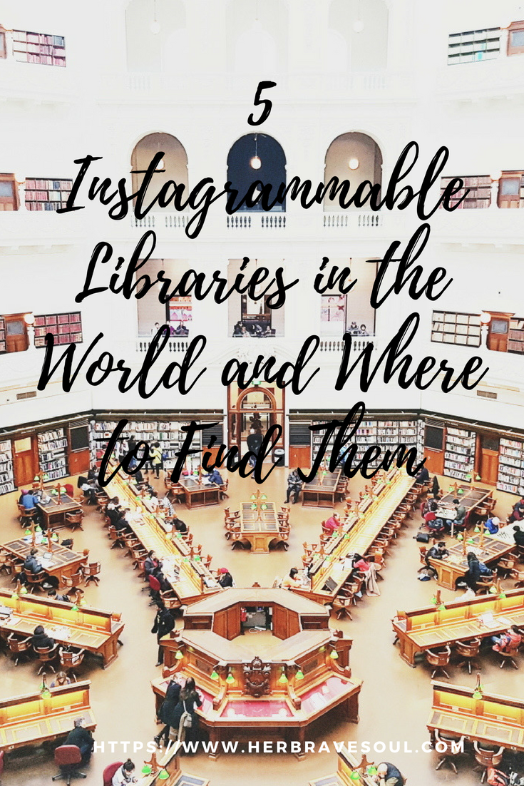 Are you a bookworm who caught the travel bug?  Do you want to know where you can find the most instagrammable libraries in the world? Save this pin for your world adventure and see where to find the most beautiful book houses that you can travel to! #libraries #travelblog #instagrammable