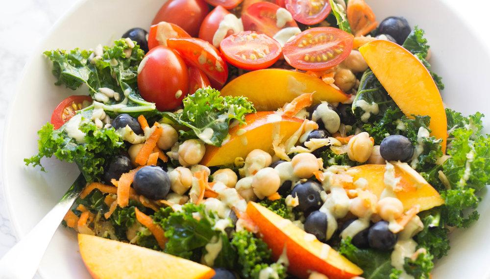 My Summer Power Kale Salad w/ Creamy Avocado-Lime Hemp ...