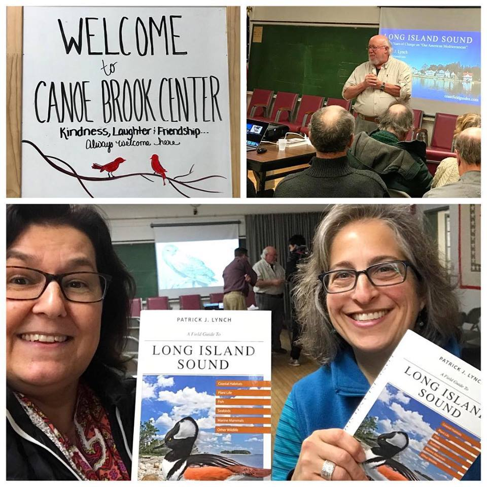 Chris and Emily went on a joint jaunt to hear Patrick Lynch speak about the Long Island Sound and his book  A Field Guide to Long Island Sound: Coastal Habitats, Plant Life, Fish, Seabirds, Marine Mammals, and Other Wildlife .