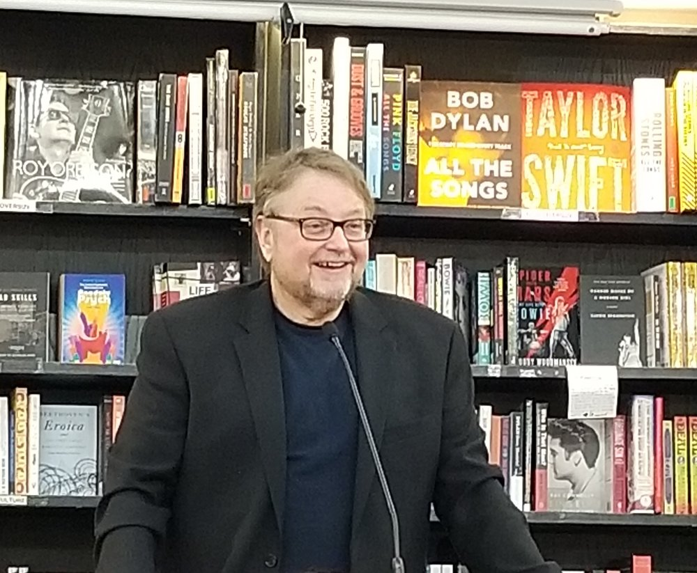 Luis Alberto Urrea discussing his book  The House of Broken Angels  at  Bookshop Santa Cruz .