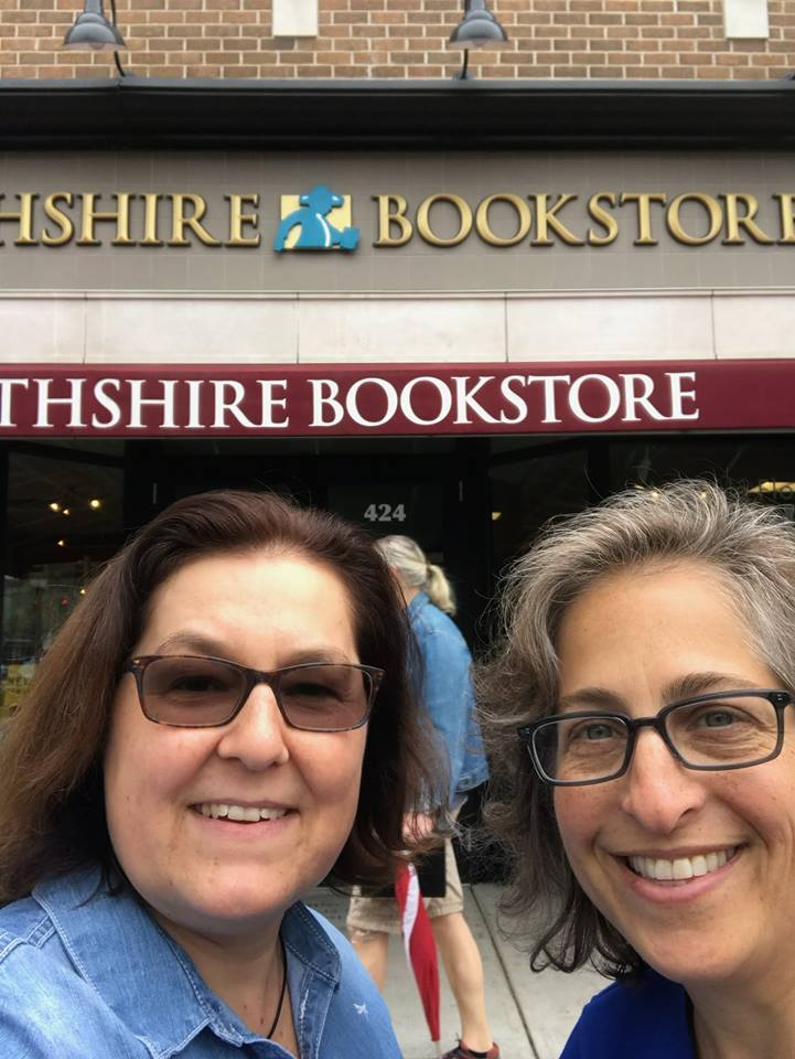 Chfris and Emily outside  Northshire Bookstore  in Saratoga Springs, NY.