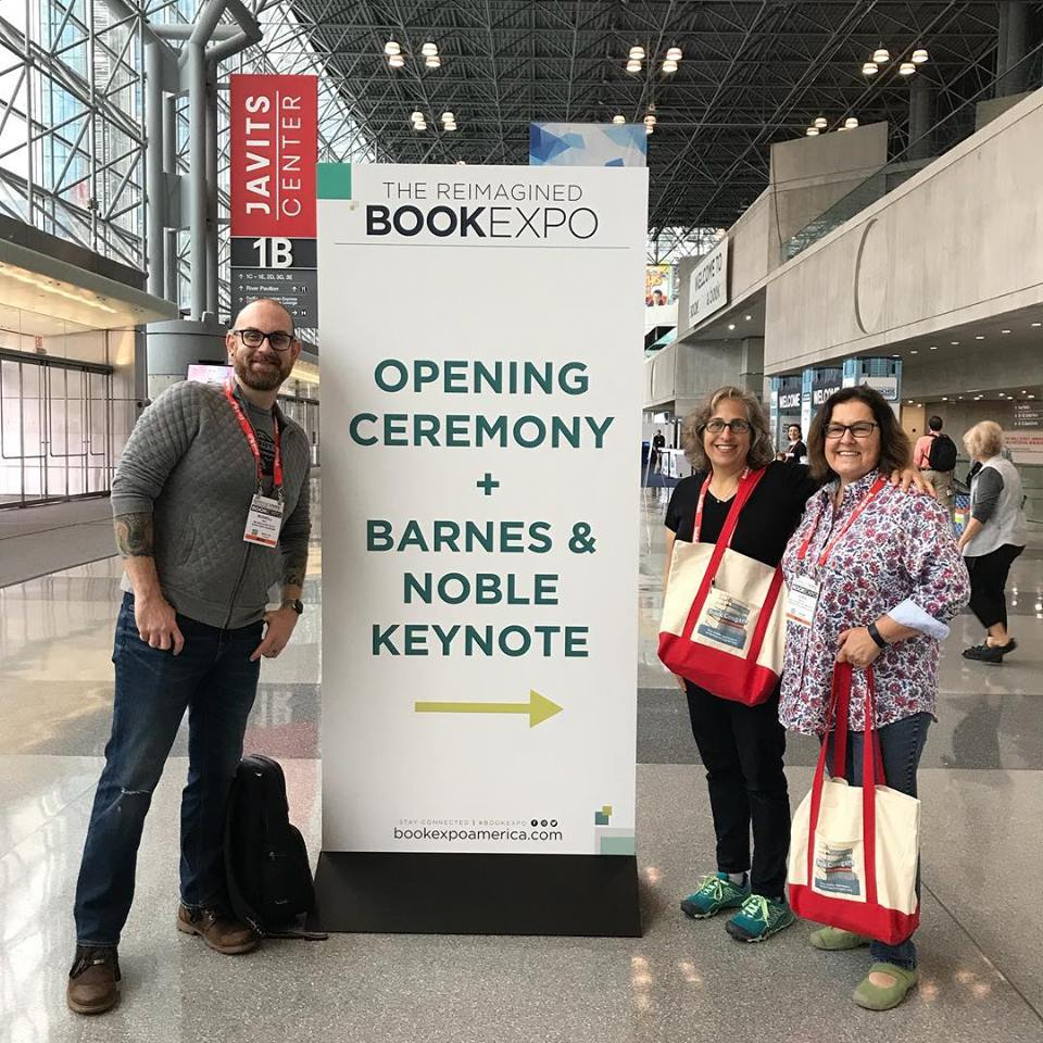 Chris, Emily and Russell - Opening Day at BookExpo 2018