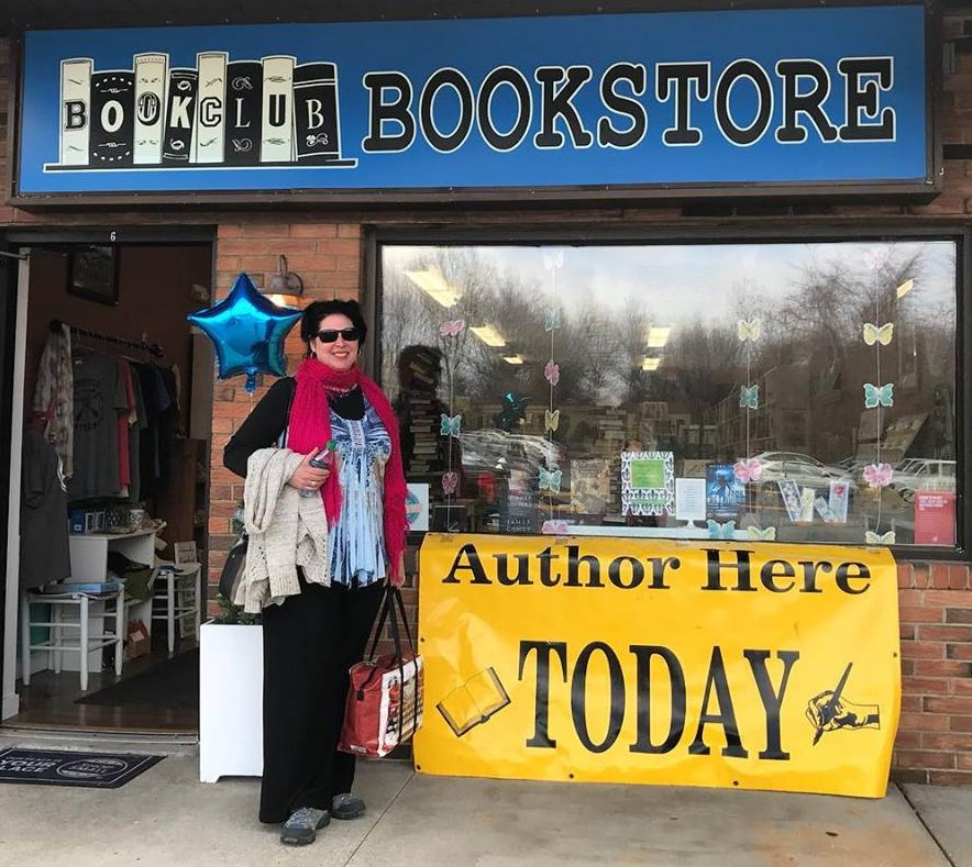Author Laura Thoma at  Bookclub Bookstore & More  for Independent Bookstore Day. Check out her book  Mastering the Art of Self-Expression .