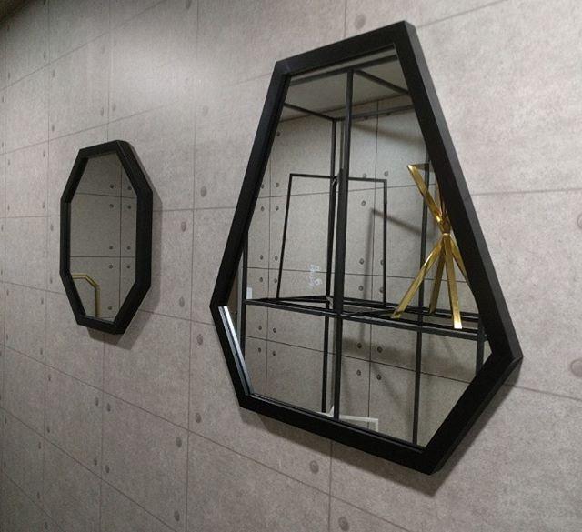 벽면6각거울~  #골드거울 #벽면거울 #거울제작 #다이아몬드거울 #팔각거울
