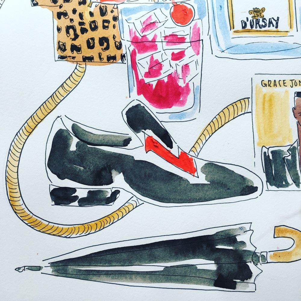 Christian Louboutin Dandylove Venetian Velvet Loafers