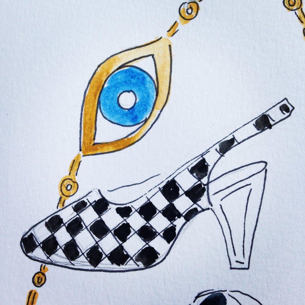 woven slingback shoe