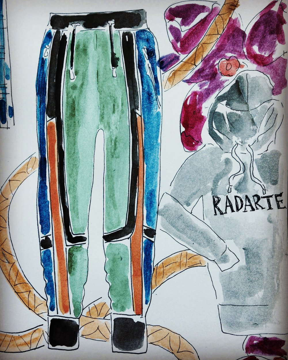Radarte hoodie with balmain joggers