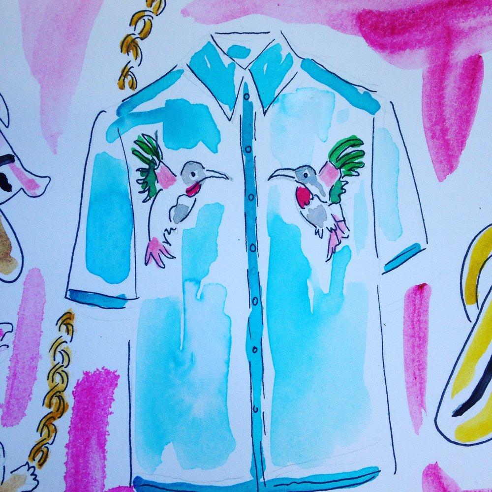 Wild We Hummingbird shirt