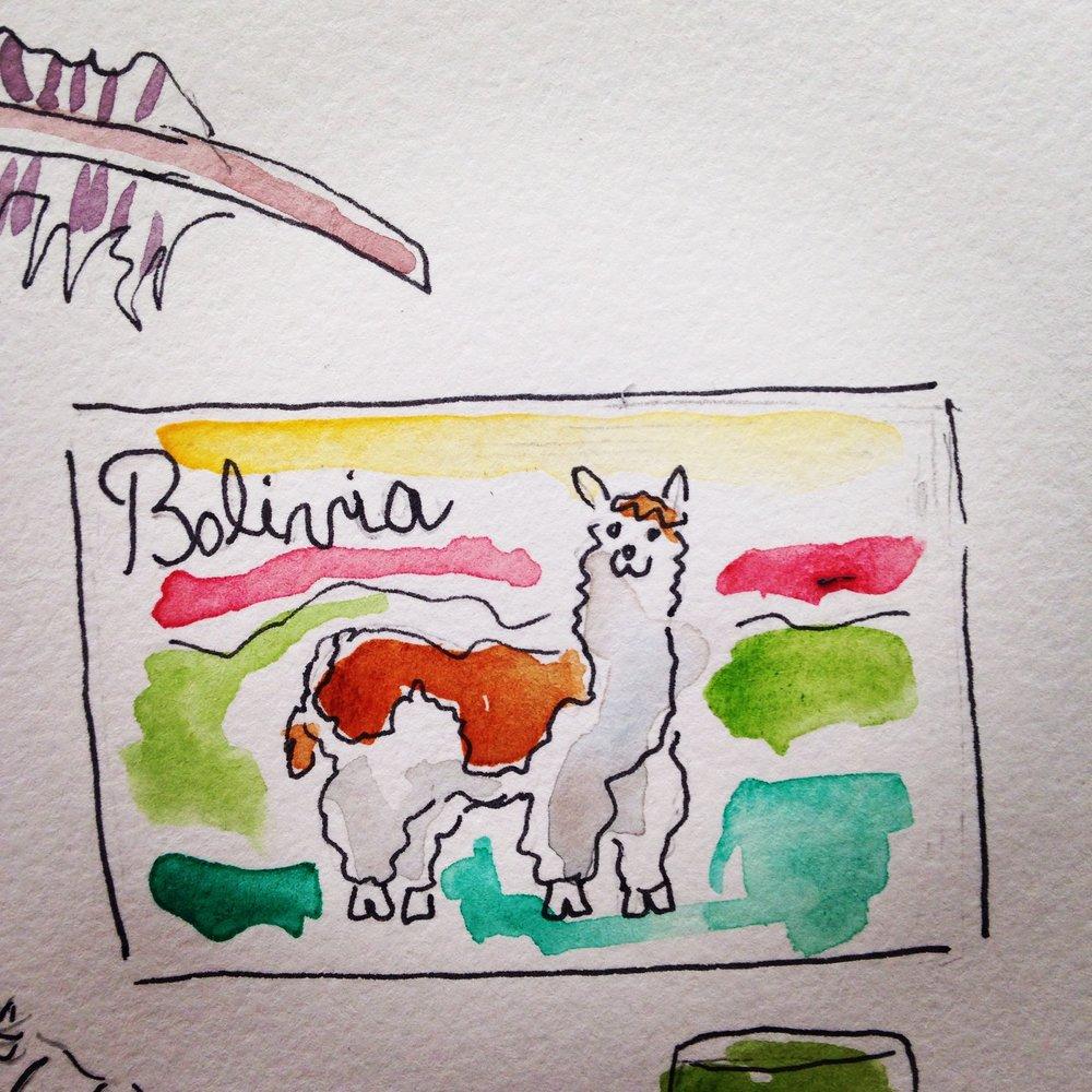 Bolivia postcard