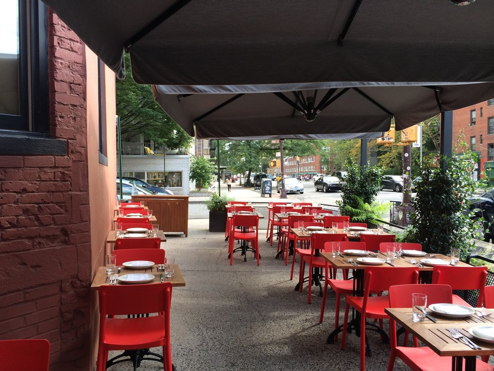 Patio at Charlie Bird- although it was crowded when I was there! Photo courtesy of Vanessa Deleon