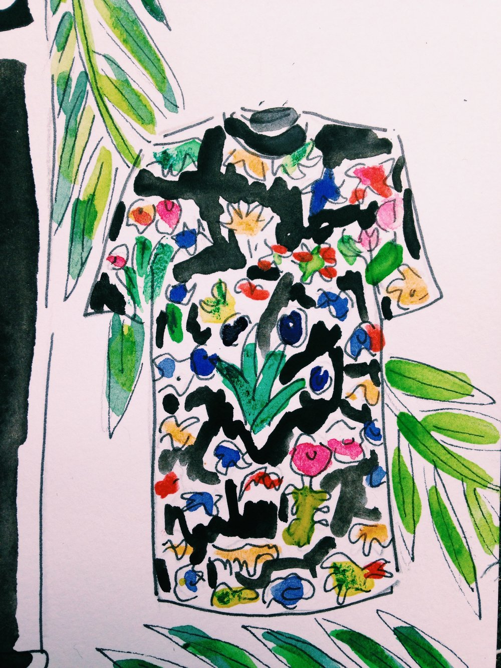 PS by Paul Smith Tropical Floral Print Shirt available at Barney's New York