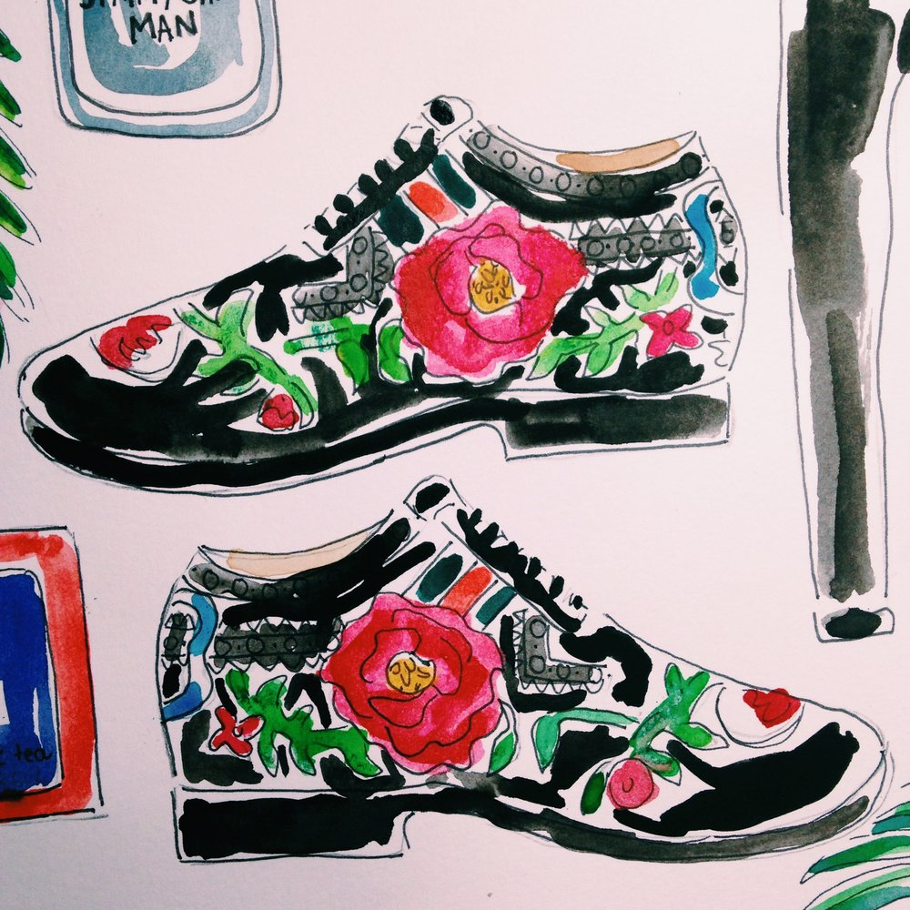 Gucci  Floral Shoes
