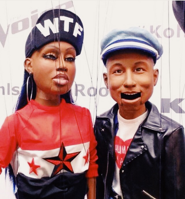 missy elliot and pharell puppets