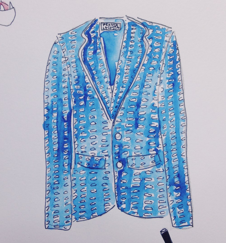 Jacket featuring original textiles by Franco Lacosta.