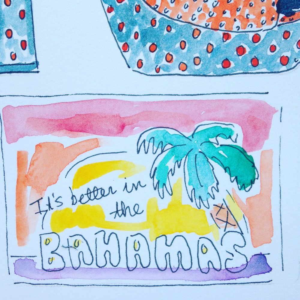 Bahamas Post card