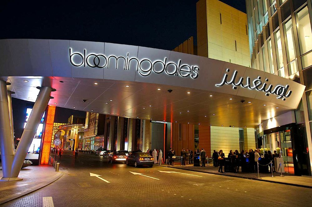 The three story Bloomingdales in Dubai.