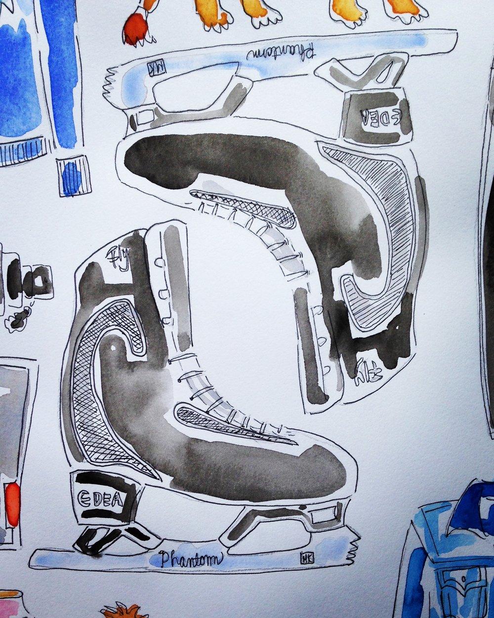 Callum's Edea ice skates with Phantom parabolic blades.