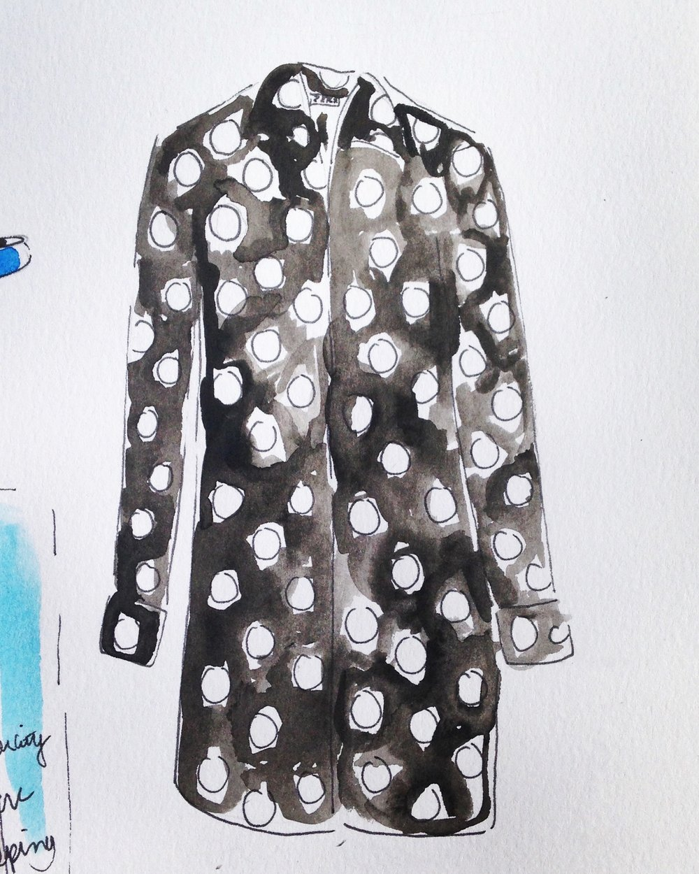 Zara polka dot dress available  here.
