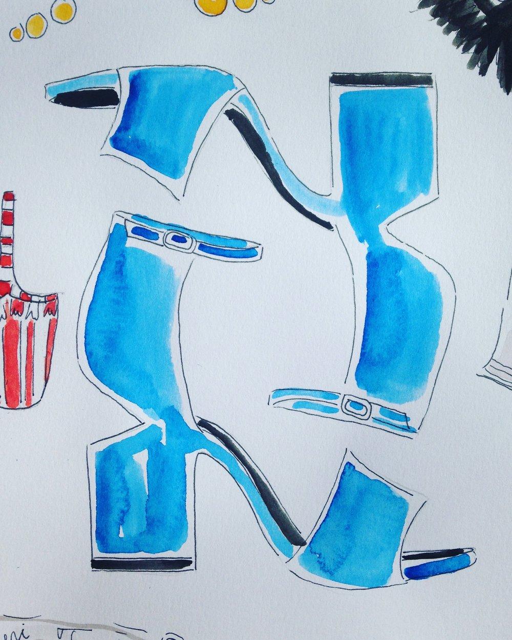 Alexander Wang Satin block heel sandals available at  Barneys.