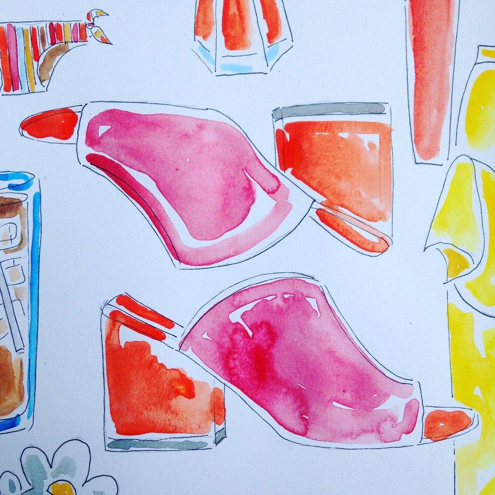 Lewit Amalia Block Heel shoes available  here.