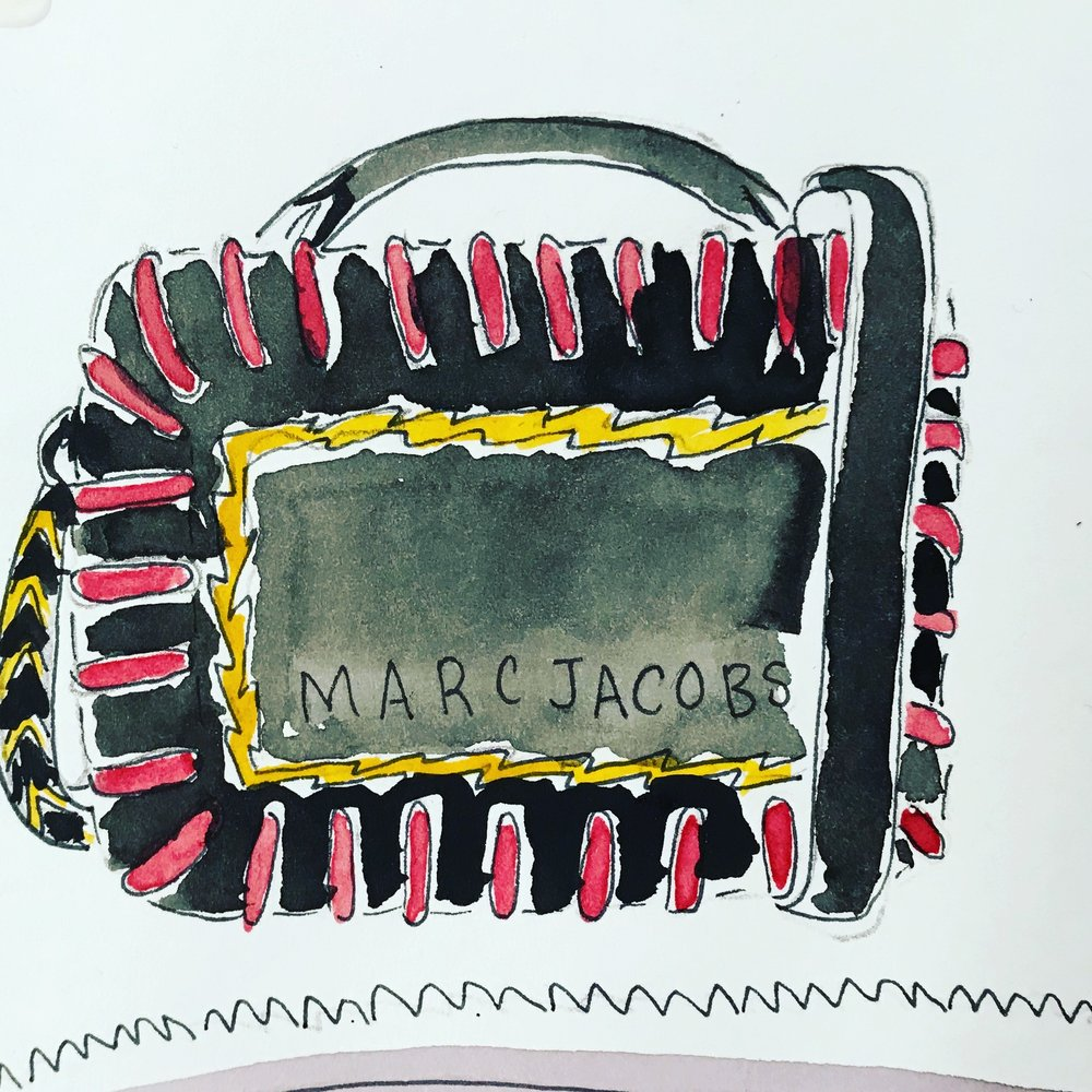 Marc Jacobs lunchbox bag available  here.