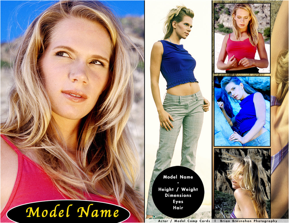 Actor/Model Comp Cards