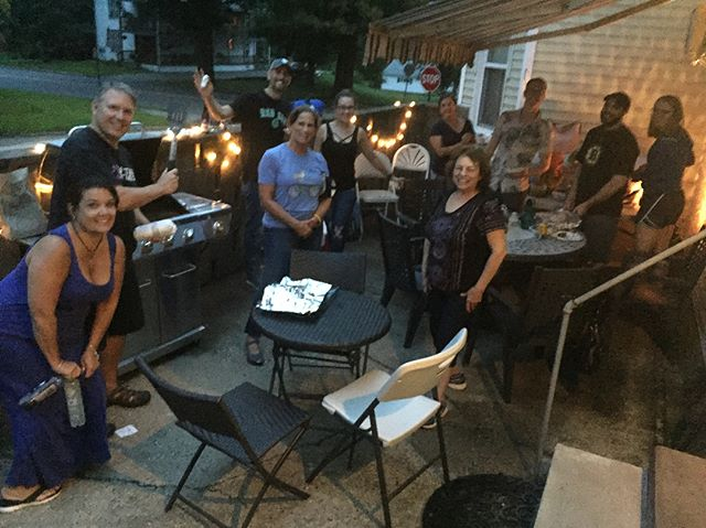 Kayaking and grilling.  Fun night with our staff outside of the office!