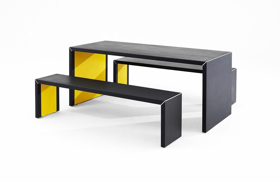 Inside Out Table : Designer/James Burleigh : Color/Black Diamond : Location/
