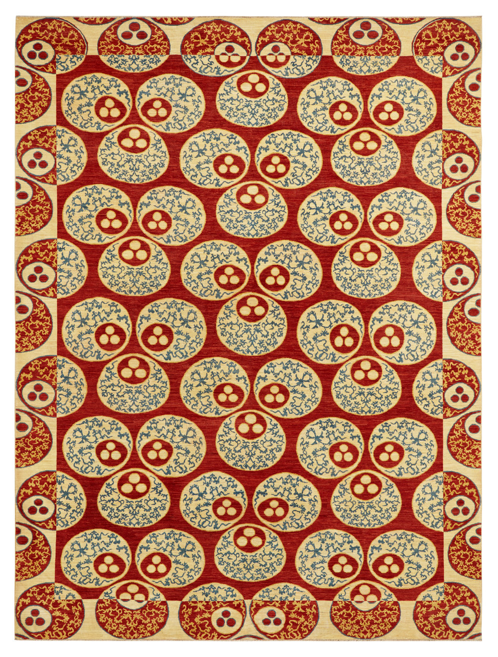 Catma Red, Afghan, 9' x 12'