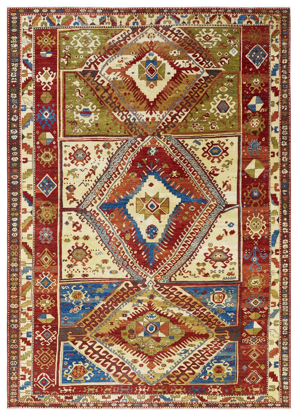 Kazak, Afghan, 9' x 12