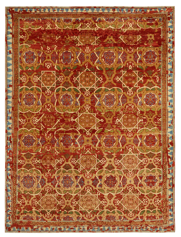 Lampas Spice, Afghan, 9' x 12'