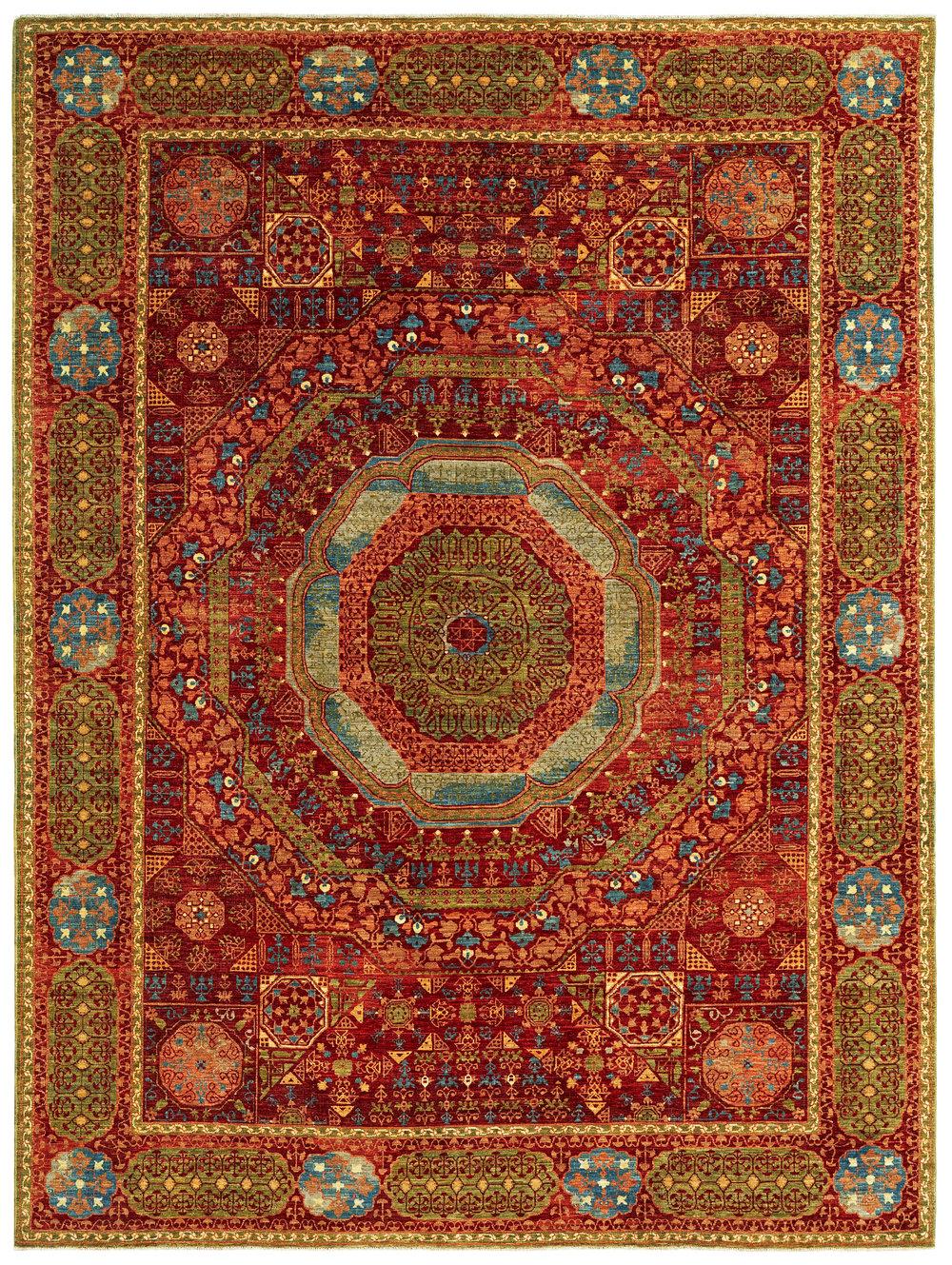 Mamluk Russet, Afghan, 9' x 12