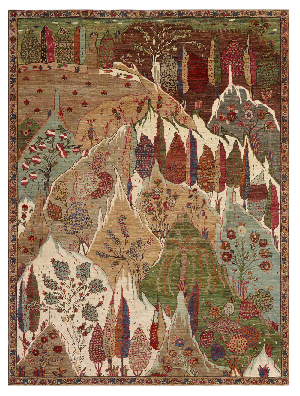 Wonderland, Afghan, 9' x 12'