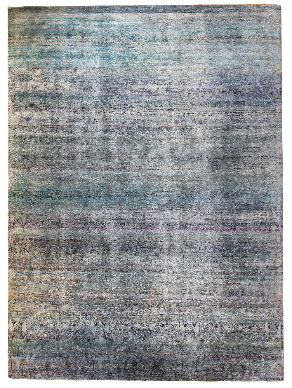 """789 Kundan Silk, Jaipur, 9"""" x 12'4"""""""