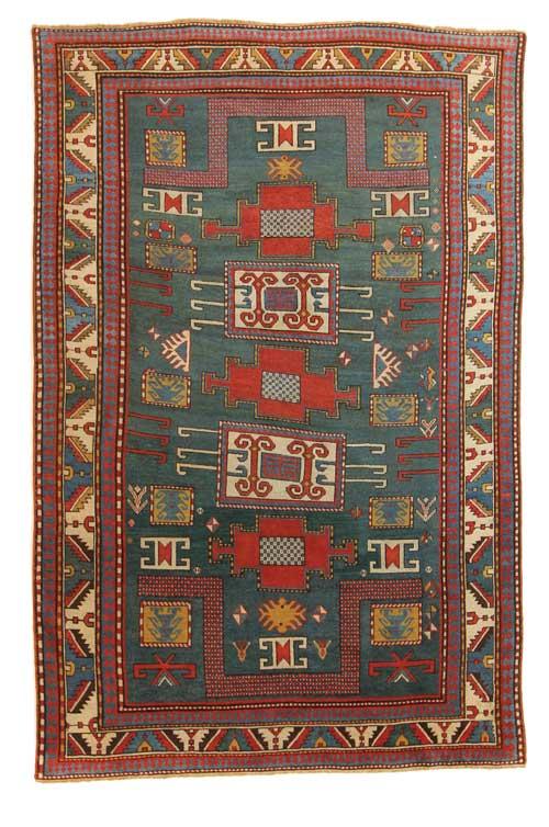 Karachov Kazak, circa 1850, 5' x 8'