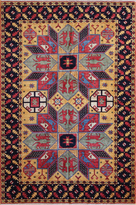 771 Anatolian Crivelli Design, Afghanistan, 5'11''x8'1'
