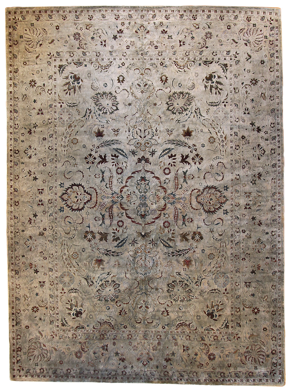 "862 Silk Oxidized Wool, Jaipur, 8'10""x12'2"""