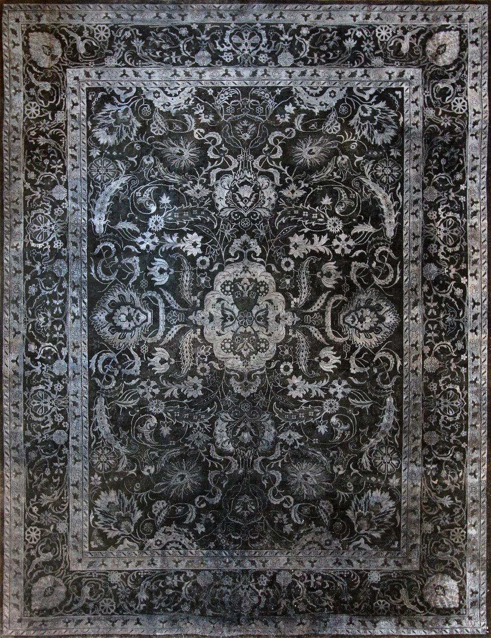 """350 Kundan Silk, Jaipur, 8'8""""x11'3"""""""
