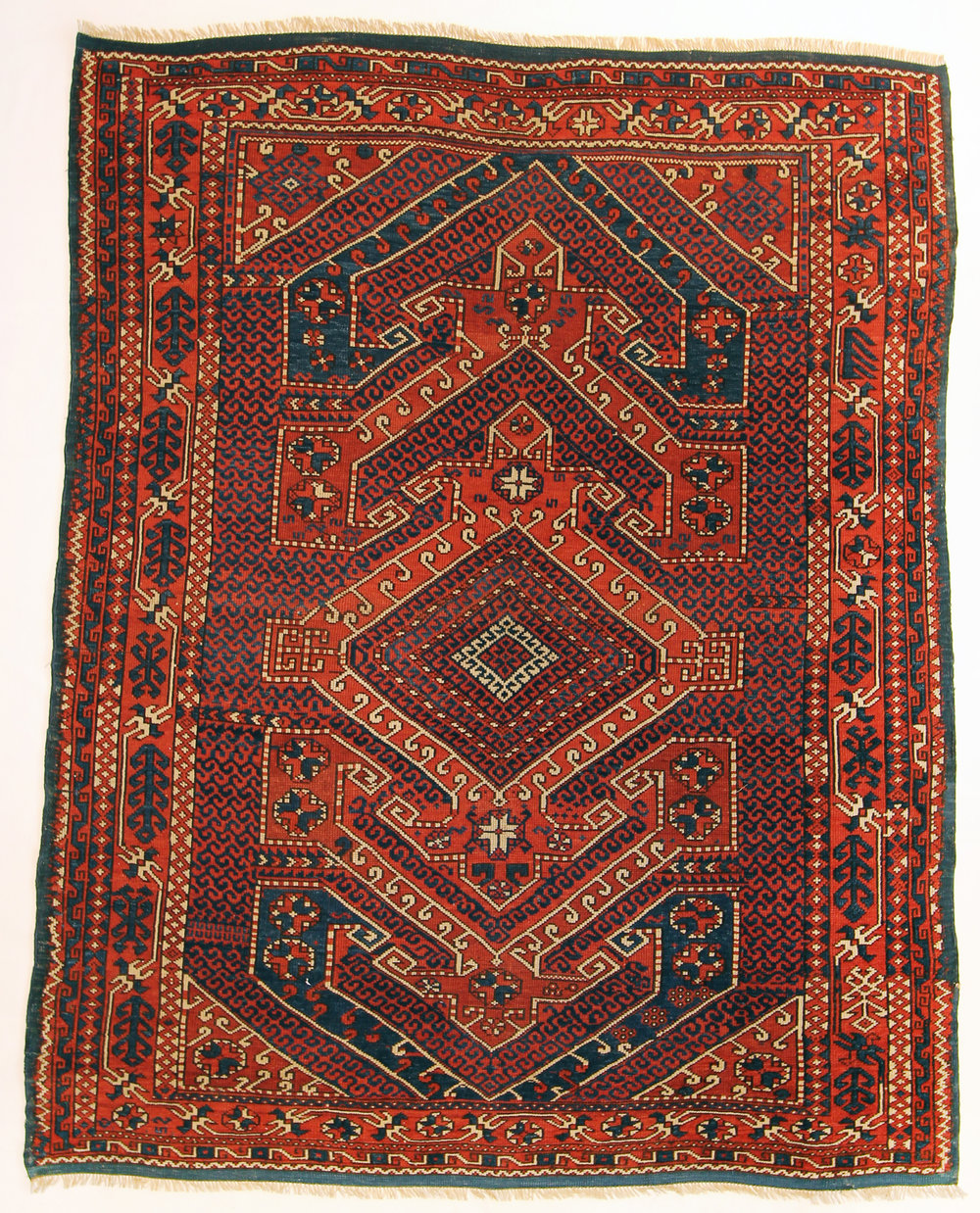106 Antique Bergama, Ottoman Empire, circa 1880, 6'4''x7'7''