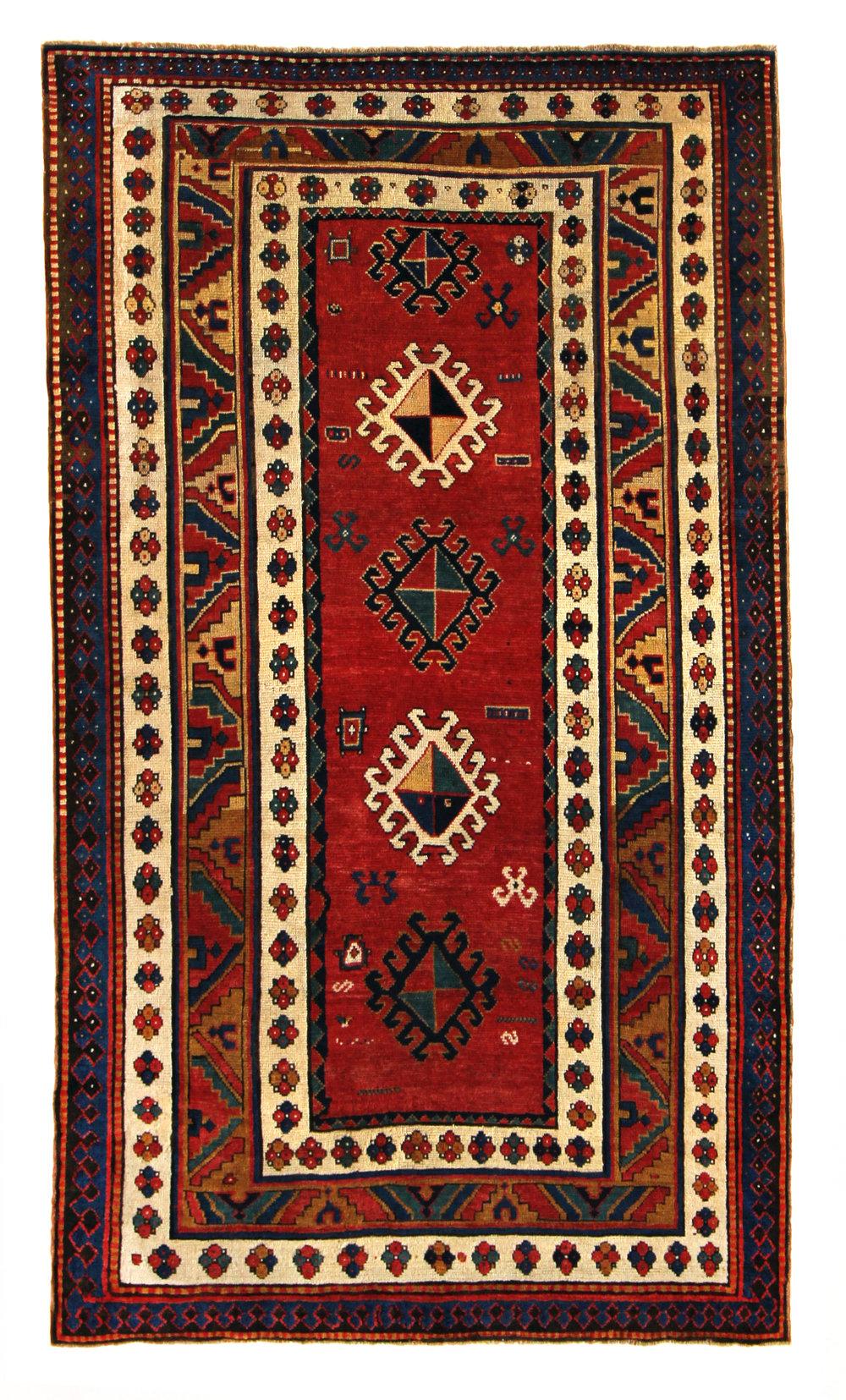 501 Armenian Kazak, Caucasus circa 1870, 4'8''x8'1''