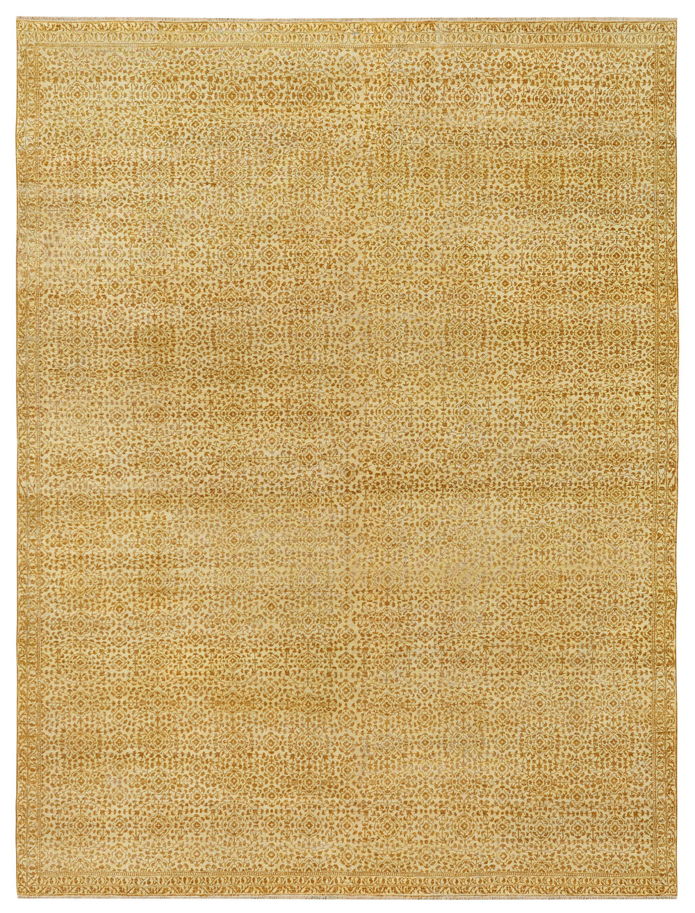 Nile Ivory-Gold, Indian, 9' x 11' 9