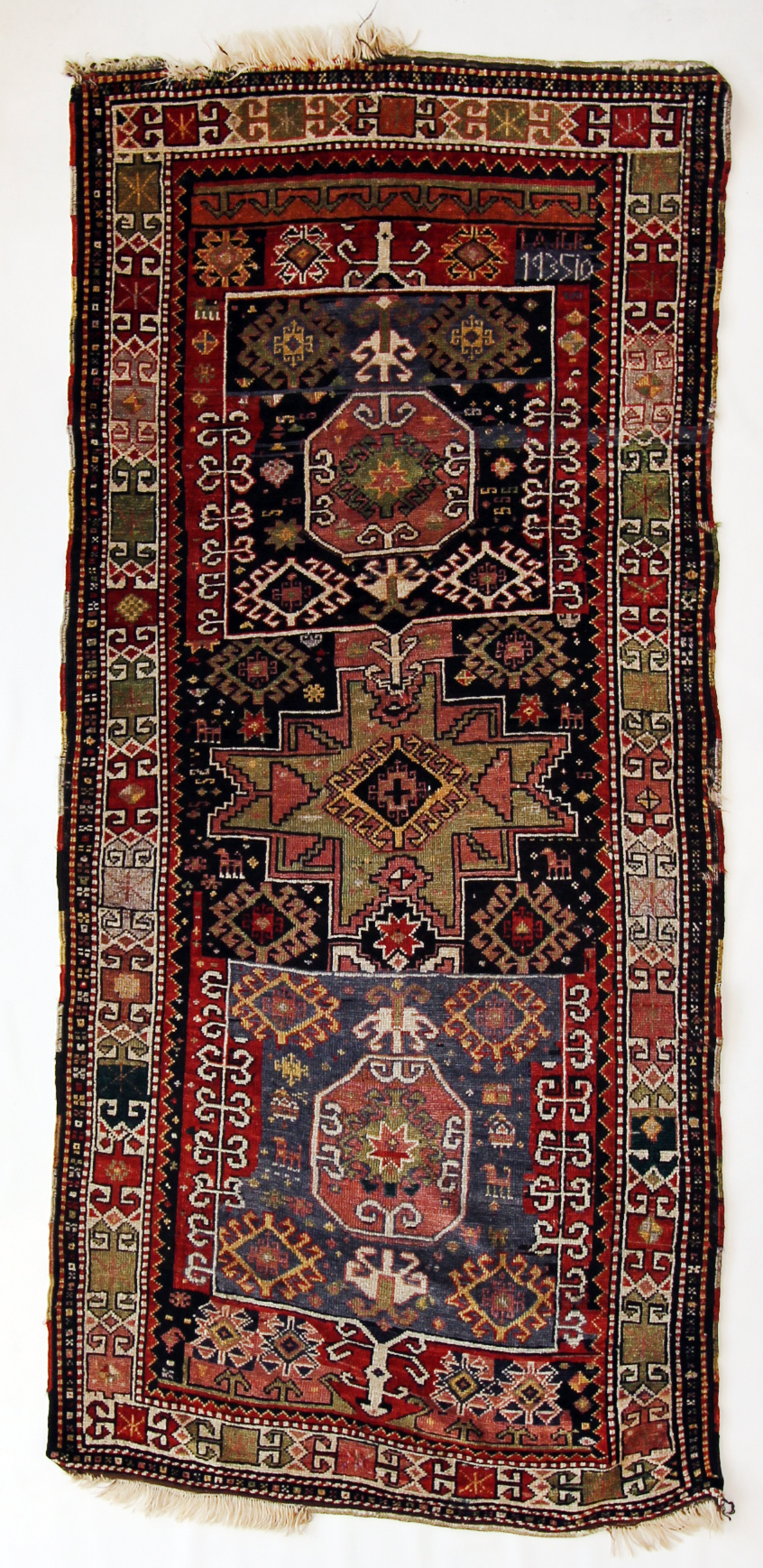 44 Armenian Kazak, dated 1935, 3'9''x8'3''