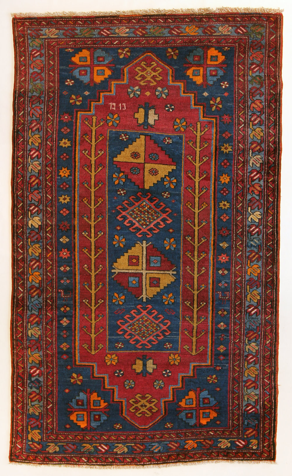 4 Armenian Village Kazak, dated 1913, 4'6''x8'6''