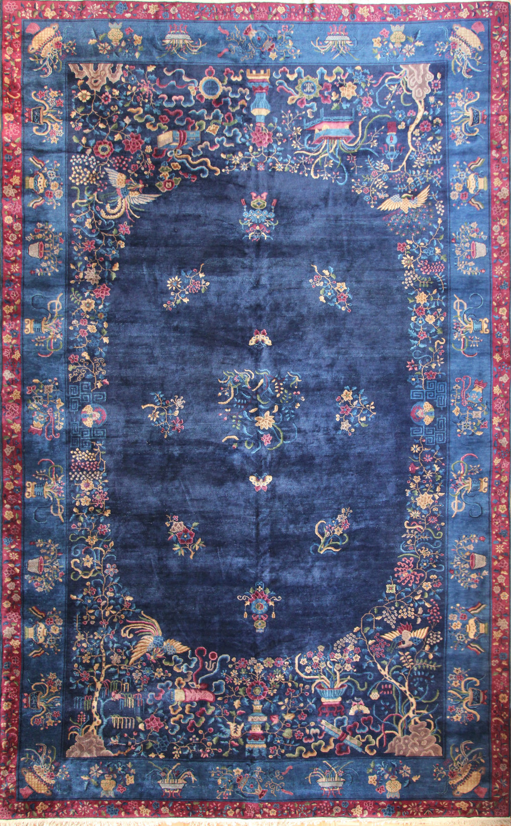 732 Antique Chinese, circa 1880, 12'x18'