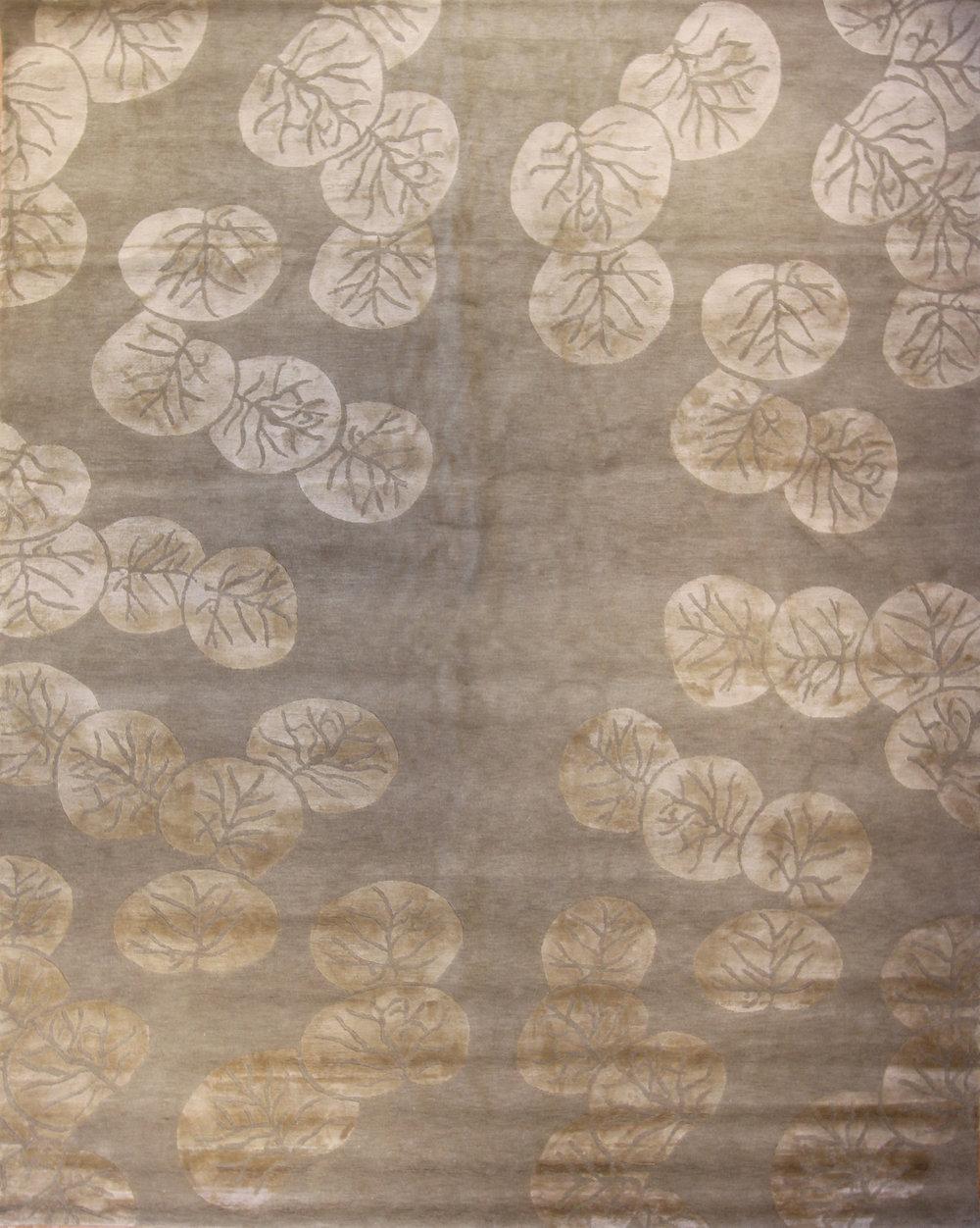 775 Seagrape, Nepal, Wool and Silk, 8'x10'