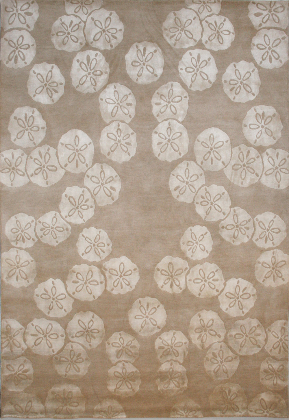 776 Sand Dollar, Wool and Silk, Nepal, 6'x9'