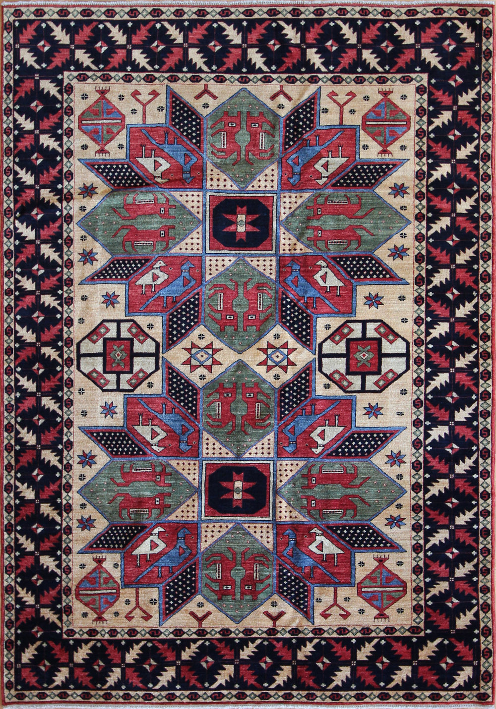 766 Anatolian Crivelli Design, Afghanistan, 5'2''x7'5''