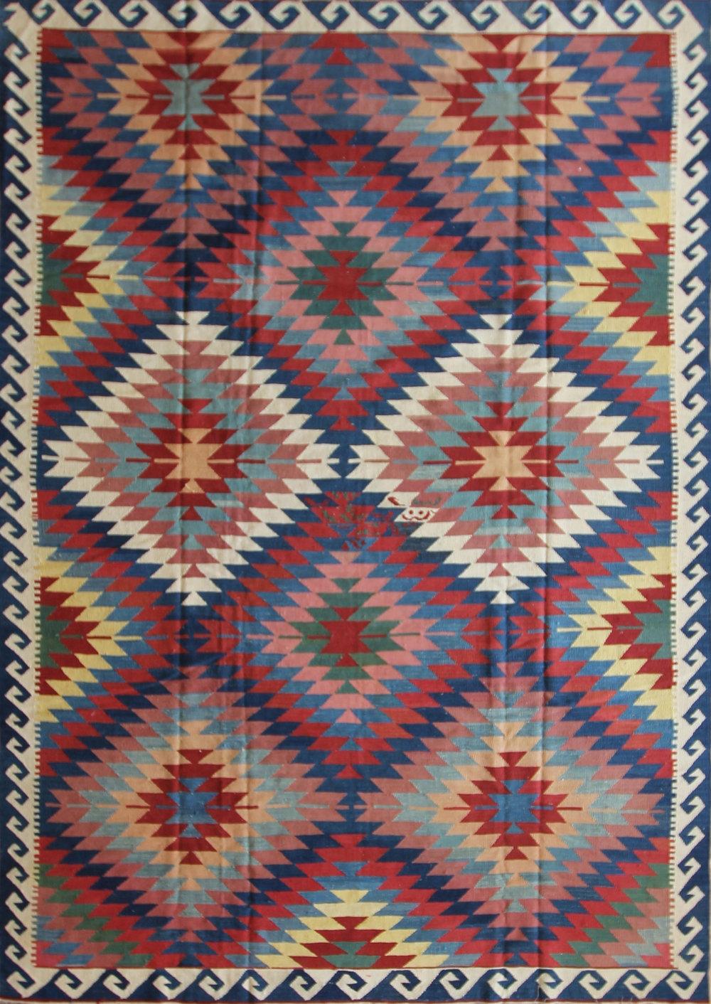 105 Maimona Kilim, Afghanistan, 9' x 12'