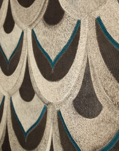 Yerra Rugs approached Art to Walk On, and now the Sarasota retailer carries its contemporary takes on hair-on-hide rugs.